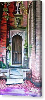 Canvas Print featuring the painting Welcome Home by Bonnie Heather