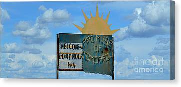 Hometown Welcome Canvas Print