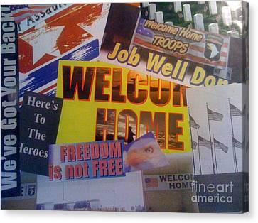 Welcome Home Canvas Print by Paula Talbert