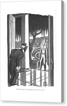 Plantation Canvas Print - Welcome Home by Peter Arno