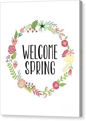 Welcome Spring Canvas Print by Natalie Skywalker