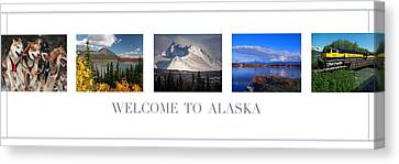 Welcome To Alaska Canvas Print by Retro Images Archive
