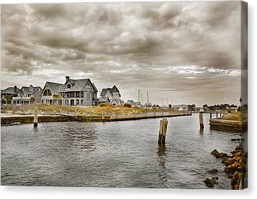 Welcome To Bald Head Island Canvas Print by Betsy Knapp