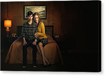 Welcome To Bates Motel Canvas Print by Movie Poster Prints