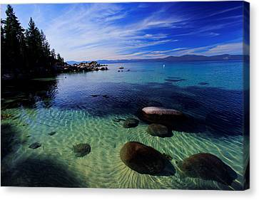 Canvas Print featuring the photograph Welcome To Bliss Beach by Sean Sarsfield