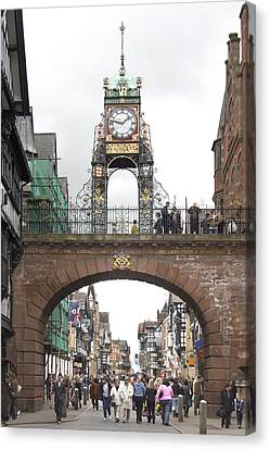 Welcome To Chester Canvas Print by Mike McGlothlen