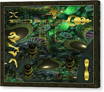 Canvas Print featuring the photograph Welcome To Cosmic City by Robert Kernodle