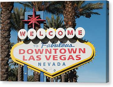 Welcome To Downtown Las Vegas Sign, Las Canvas Print