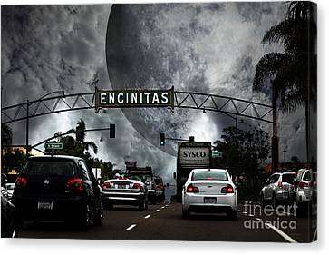 Canvas Print featuring the photograph Welcome To Encinitas California 5d24221 by Wingsdomain Art and Photography