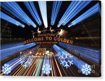 Welcome To Golden Canvas Print by Juli Scalzi