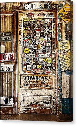 Welcome To Hackberry General Store Canvas Print by Priscilla Burgers