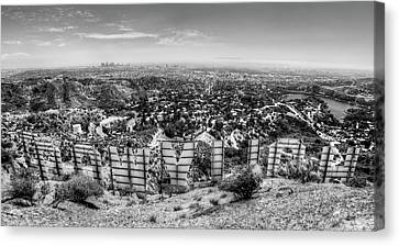Welcome To Hollywood - Bw Canvas Print by Natasha Bishop