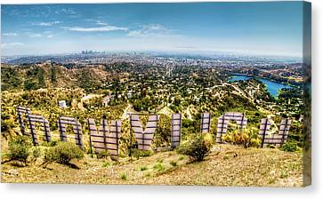Mountain Valley Canvas Print - Welcome To Hollywood by Natasha Bishop