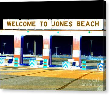 Welcome To Jones Beach Canvas Print by Ed Weidman