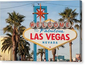 Welcome To Las Vegas Sign, Las Vegas Canvas Print