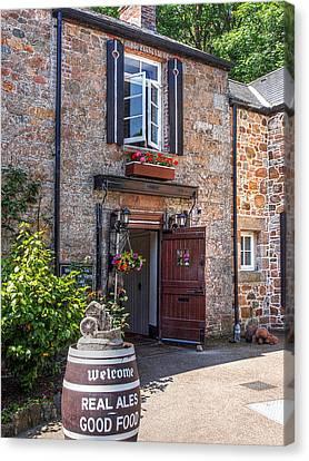 Welcome To Le Moulin De Lecq Inn Canvas Print