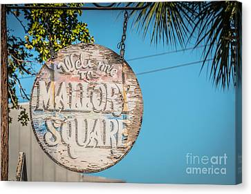 Welcome To Mallory Square Key West 2  - Hdr Style Canvas Print by Ian Monk