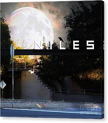 Welcome To Niles California Gateway To The Stars 7d12755 Square Canvas Print