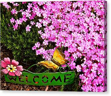 Welcome To Our Gardens Canvas Print by Randy Rosenberger