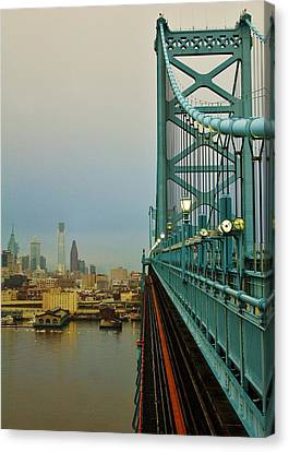 Welcome To Philly Canvas Print by Benjamin Yeager