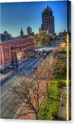 Welcome To Rochester Canvas Print by Tim Buisman