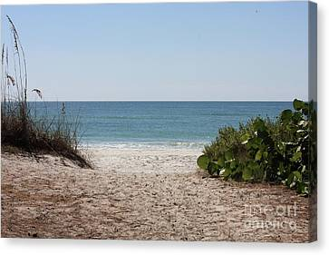 Welcome To The Beach Canvas Print by Carol Groenen