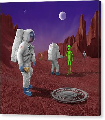 Welcome To The Future Canvas Print by Mike McGlothlen