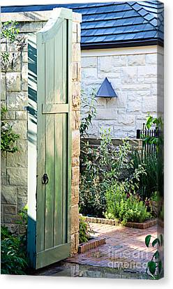 Welcome To The Garden Canvas Print by Andee Design