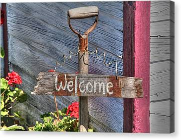 Welcome To The Garden Canvas Print by Heather Allen