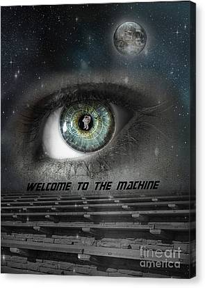 Welcome To The Machine Canvas Print by Juli Scalzi