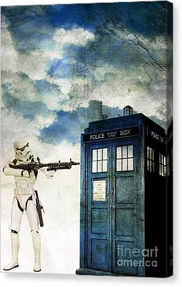 Welcome To The Time Wars Canvas Print by Angelica Smith Bill