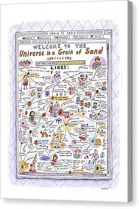 'welcome To The Universe In A Grain Of Sand' Canvas Print by Roz Chast