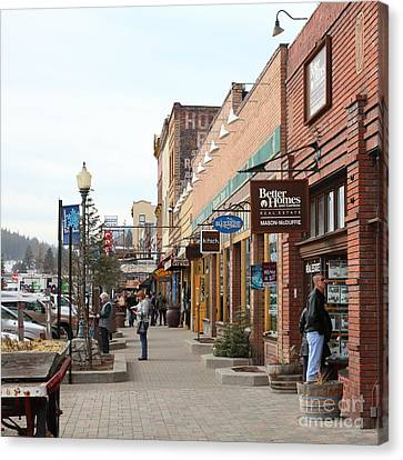Welcome To Truckee California 5d27445 Square Canvas Print by Wingsdomain Art and Photography