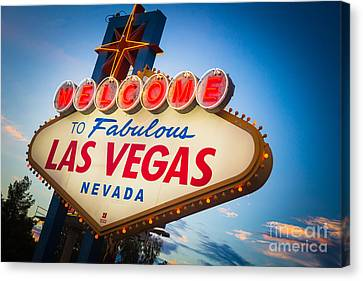Rich Canvas Print - Welcome To Vegas by Inge Johnsson