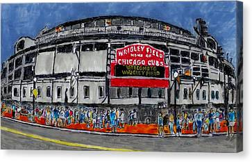 Welcome To Wrigley Field Canvas Print by Phil Strang