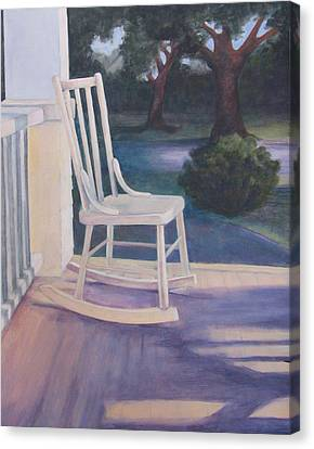 Welcoming Porch Rocker  Canvas Print by Jo Thompson