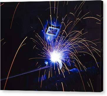 Welding  Canvas Print by Andrew James