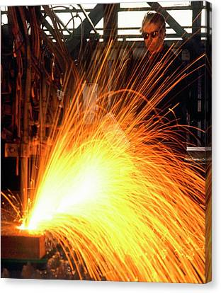 Bonding Canvas Print - Welding by Ton Kinsbergen