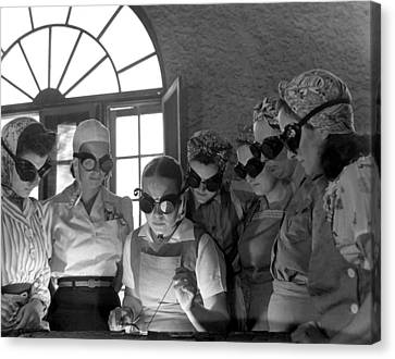 Welding Training For Women Canvas Print by Everett