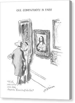 Well, Now We've Seen That, Augusta. Cross Canvas Print by Helen E. Hokinson