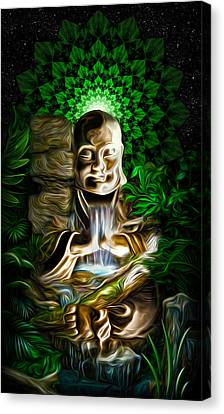 Canvas Print featuring the painting Well Of The Heart by Jalai Lama