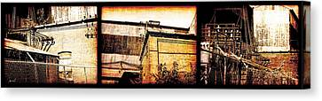 Welland Forge Triptych 1 Canvas Print by The Art of Marsha Charlebois