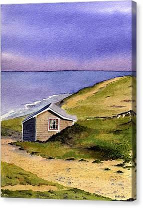 Wellfleet Cottage Canvas Print by Heidi Gallo