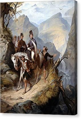 Wellington At Sorauren, 27th July 1813 Canvas Print by Thomas Jones Barker
