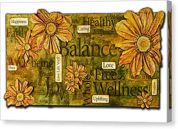 Wellness Canvas Print by Lisa Fiedler Jaworski