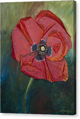 Wellness Poppy Canvas Print by Lisa Fiedler Jaworski