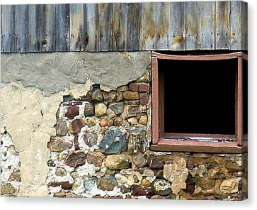 Canvas Print - Well's Barn Texture by Debbie Finley
