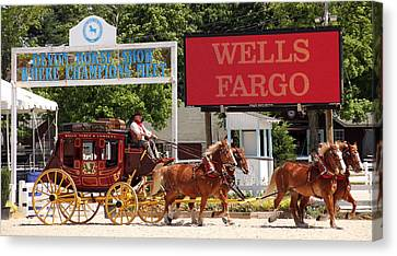 Canvas Print featuring the photograph Wells Fargo At Devon by Alice Gipson