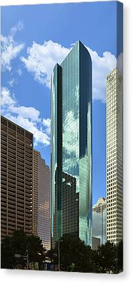 Wells Fargo Plaza Houston Tx Canvas Print by Christine Till