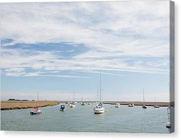 Wells-next-the-sea In North Norfolk Canvas Print by Ashley Cooper